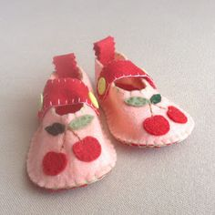 felt little shoes customize