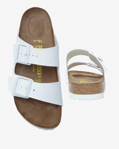 Birkenstock Arizona Soft Footbed Super Grip White Leather | Shop IntermixOnline.com