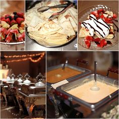 part of what my cousin's daughter had at her wedding (make u'r own fruit crepe bar) ~ so yummy! Wedding Breakfast, Breakfast Dessert, Breakfast Recipes, Fruit Crepes, Savory Crepes, Crepe Station, Crepe Bar, Thanksgiving Fruit, Wedding Food Stations