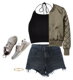 """Lazy Shorts Day"" by prettysexiness ❤ liked on Polyvore featuring Alexander Wang, River Island and Cartier"