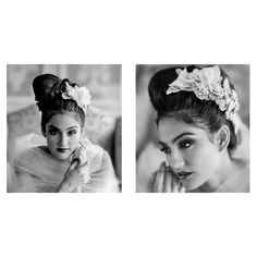 Headpiece by Maria Elena Headpieces.. Simple do, statement Headpiece=Fabulous ! Photography by @Marie Labbancz