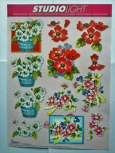 #Mixed flowers #pink,white,purple-studio ligh t- 1 decoupage #sheet + 2cardstock,  View more on the LINK: http://www.zeppy.io/product/gb/2/111995605308/