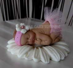 Tutu Tulle Baby Cake Topper for Baby Shower or 1st Birthday Princess