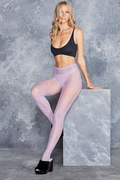Flapper Lilac Hosiery - LIMITED ($25AUD) by BlackMilk Clothing