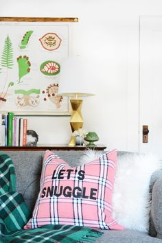 How To: Make a DIY Typographic Pillow for Fall + Winter