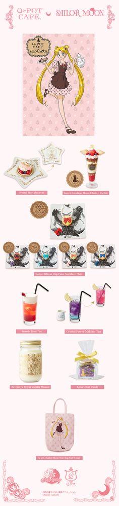 """sailor moon"" ""sailor moon merchandise"" ""sailor moon toys"" ""q-pot"" kawaii cafe shop macaron chocolate cake jewelry charm"