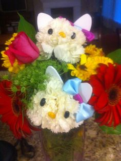 Hello Kitty bouquet - best flowers I ever got