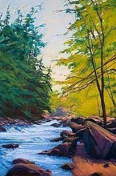Down Stream ~ by Susan Ogilvie, pastel