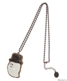 Q-Pot Ghost Cookie Necklace (Hat)