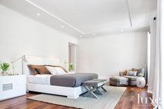 Modern White Master Bedroom