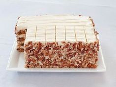 Imagine this tiered - the nutty finish with the wooden stand - Carrot Layer Cake - Cooks Illustrated