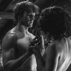 Only to see them, sae full and sae round — Christ, I could lay my head here forever. But to touch ye,my Sassenach . you wi' your skin… Outlander Season 4, Outlander Quotes, Outlander Casting, Outlander Tv Series, Claire Fraser, Jamie And Claire, Jamie Fraser, James Fraser Outlander, Sam Heughan Outlander
