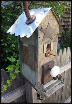 Bird house made of scraps is still a bird house that a bird will call home.