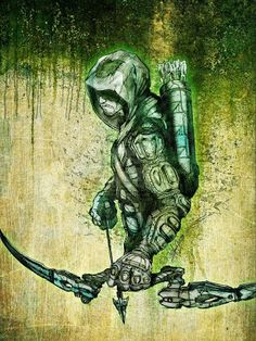 The Green Arrow is another superhero I like, because he's just a guy who taught himself to fight.