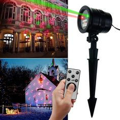 Christmas Laser Light, GOODAN LED Party Light with Lighting Patterns, RF Wireless Remote IP65 Waterproof Decorative Lighting Projectors for Garden, Holiday, Wedding, Halloween, Christmas and so on.
