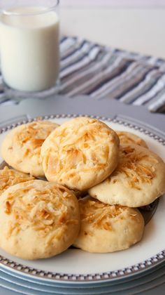 Eggless coconut cookies #cookies #eggless #coconut #kids #snack #party