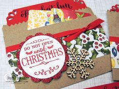 Gift card holder using Oh What Fun set by PattiStamps - video tutorial