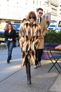 Anna Wintour with some serious fur.