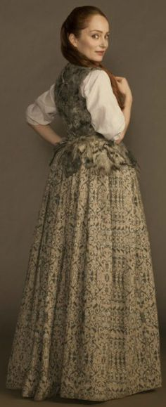 Outlander; Geillis wears clothing designed by Terry Dresbach