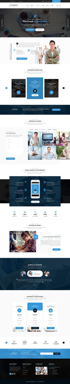 AppRock Clean Business PSD Template - Download theme here : http://themeforest.net/item/approck-clean-business-psd-template/15940015?ref=pxcr