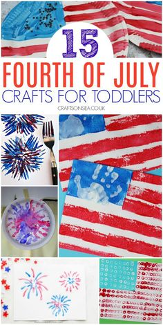 15 Easy and Fun 4th of July Crafts for Toddlers #kidscrafts