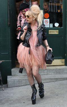 Charlie Le Mindu's Pink Flamingo Hair Dress