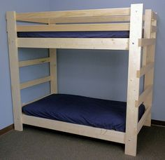 Twin Full Queen Bunk Beds for Kids, Youth, Teen & College Students, Dorm Room, Cabins & Camps - Kits