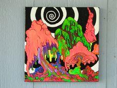 Trippy Magic Mushrooms by Kathy Lockhardt on Etsy