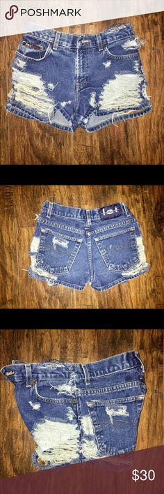 Selling this The cutest distressed shorts ever ! on Poshmark! My username is: ohnienie. #shopmycloset #poshmark #fashion #shopping #style #forsale #Pants