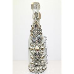 Wedding bling bottle by Angela's Fantasy Creations