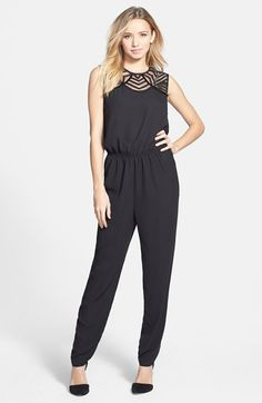 4f3f362b8ff Leola Couture Beaded Jumpsuit (Juniors) available at  Nordstrom Black  Jumpsuit