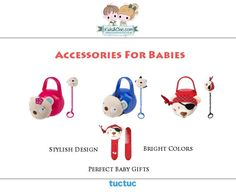 Trendy #accessories for #babyboys and #babygirls from #TucTuc.   Discover at:  www.kidsandchic.com/brands/tuc-tuc-accessories #babyaccessories #babyfashion #kidsfashion #trendychildren #shoppingbarcelona #dummybox #dummychain #hairbrush