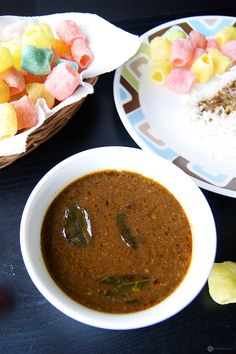 """Another healthy recipe on my blog. This time around it is in the form a delicious South Indian Kuzhambu. Try this spicy and extremely flavorful """"Milagu Kuzhambu (South Indian pepper gravy) for lunch today."""