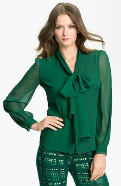 730a4fc4b Tory Burch  Bryce  Silk Blouse available at  Nordstrom Holiday Blouses