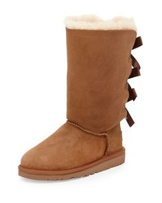 Bailey Tall Boot with Bow, Youth, Size: 6 Youth, Brown - UGG