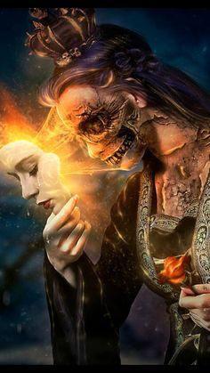 drawings - Steps for Portrait Drawing with Charcoal Dark Fantasy Art, Fantasy Artwork, Dark Art, Airbrush Art, Art Sinistre, Art Noir, Skull Artwork, Arte Obscura, Desenho Tattoo