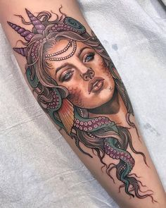 LOVEEEE this amazing tattoo by @scragpie PS; Come to AttitudeFest and see some real life mermaids! ♀️
