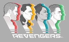 The Revengers are much cooler than the Avengers Marvel Jokes, Loki Thor, Tom Hiddleston Loki, Marvel Dc Comics, Marvel Avengers, Johnlock, Destiel, Deadpool, Comics