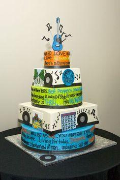 Music theme rock n roll cake idea