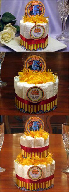 Vintage Circus Diaper Cake Centerpiece