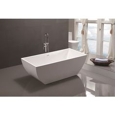 Shop for Vanity Art 59-inch Freestanding Acrylic Soaking Bathtub. Get free shipping at Overstock.com - Your Online Home Improvement Outlet Store! Get 5% in rewards with Club O! - 19190642
