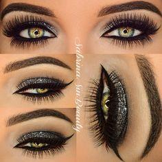 .@sabrinasinbeauty | Serving up the Gun Metal Glam details from earlier post Eyes: Make Up For E... | Webstagram