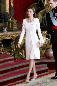 King Felipe VI of Spain and Queen Letizia of Spain attend a reception at the Royal Palace after the King's official coronation at the parliament, 19.06.2014 in Madrid, Spain.