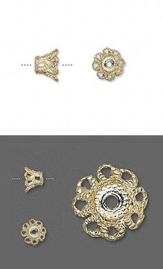 Bead caps silver plated brass beadcaps 11x2mm flat filigree 100 pieces