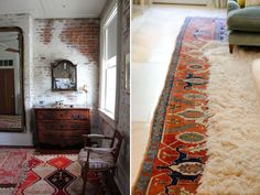Layered Rugs - especially persian style over plain jute