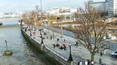 Southbank depuis le London Eye #Londres http://elisaorigami.blogspot.com