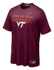 Virginia Tech Hokies Maroon Nike Dri-FIT Bench Press Legend Football T-Shirt at Modell's