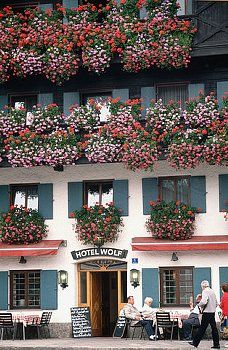 Oberammergau, Germany - The wonderful window boxes that dress Bavaria.
