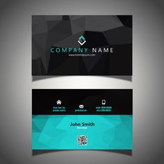 Modern business card in low poly style F. Minimal Business Card, Elegant Business Cards, Free Business Cards, Business Card Design, Free Printable Business Cards, Free Business Card Templates, High Quality Business Cards, Real Estate Business Cards, Low Poly