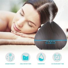 With Adaptor PP, ABSPackage Includes: 1 x Aroma Diffuser 1 x x Water Measuring Natural Essential Oils, Essential Oil Diffuser, Ultrasonic Cool Mist Humidifier, Have A Good Sleep, Aroma Diffuser, Air Purifier, Decoration, Aromatherapy, Remote